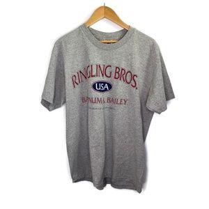 Ringling Bros Barnum & Bailey Gray T-Shirt Large